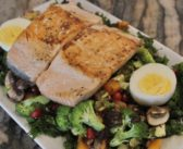 Recipe of the Month: Bruised Kale Breakfast Hash with Pomegranate Salmon